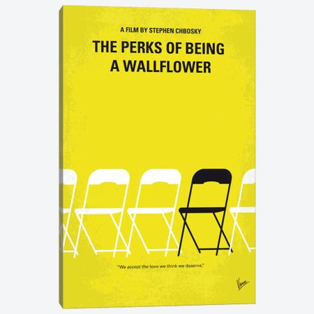 The Perks Of Being A Wallflower Minimal Movie Poster 3-Piece Canvas #CKG664} by Chungkong Canvas Art