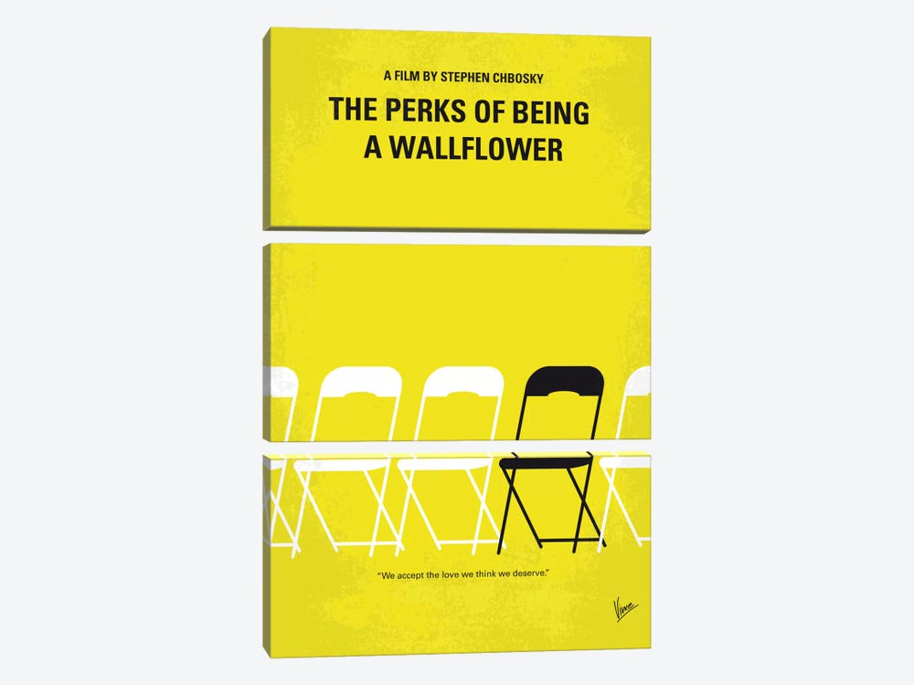 The Perks Of Being A Wallflower Minimal Movie Poster by Chungkong 3-piece Canvas Art Print
