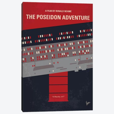 The Poseidon Adventure Minimal Movie Poster Canvas Print #CKG665} by Chungkong Canvas Artwork