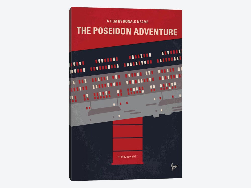 The Poseidon Adventure Minimal Movie Poster by Chungkong 1-piece Canvas Art