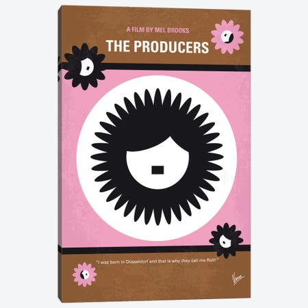 The Producers Minimal Movie Poster Canvas Print #CKG666} by Chungkong Canvas Art