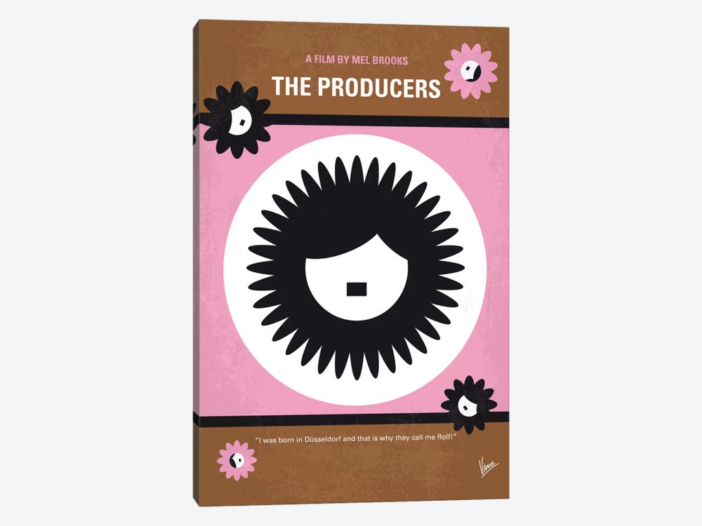 The Producers Minimal Movie Poster by Chungkong 1-piece Canvas Print