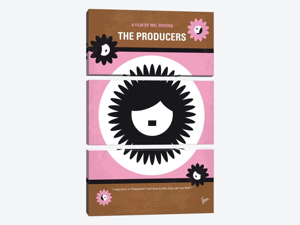 The Producers Minimal Movie Poster by Chungkong 3-piece Canvas Art Print