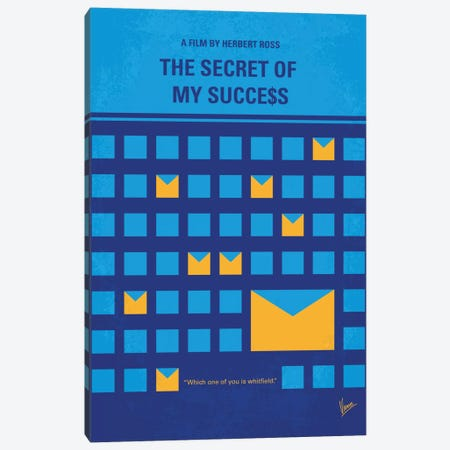 The Secret Of My Success Minimal Movie Poster Canvas Print #CKG668} by Chungkong Canvas Print