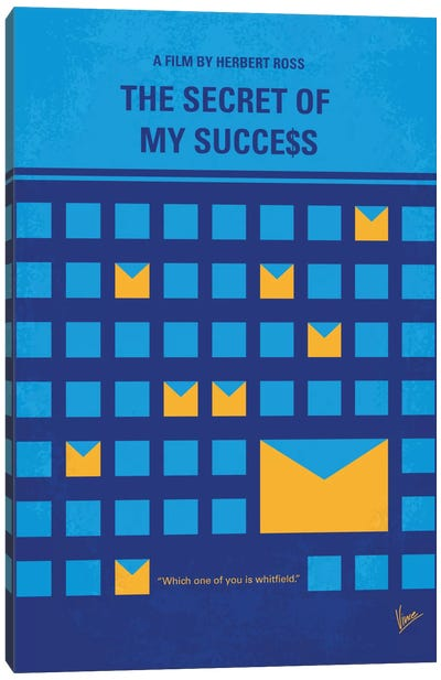 The Secret Of My Success Minimal Movie Poster Canvas Art Print