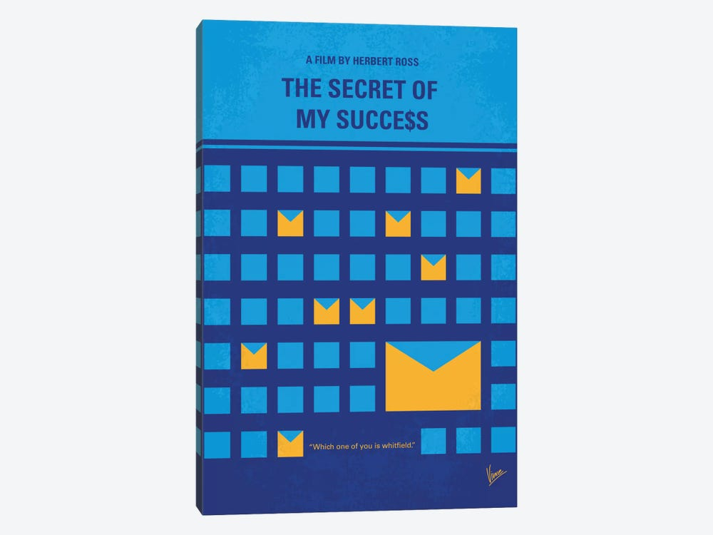The Secret Of My Success Minimal Movie Poster 1-piece Canvas Art Print
