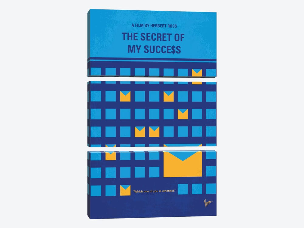 The Secret Of My Success Minimal Movie Poster 3-piece Art Print