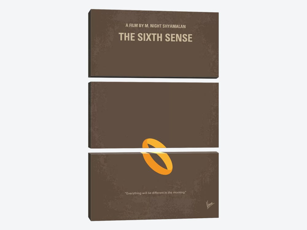 The Sixth Sense Minimal Movie Poster by Chungkong 3-piece Canvas Artwork