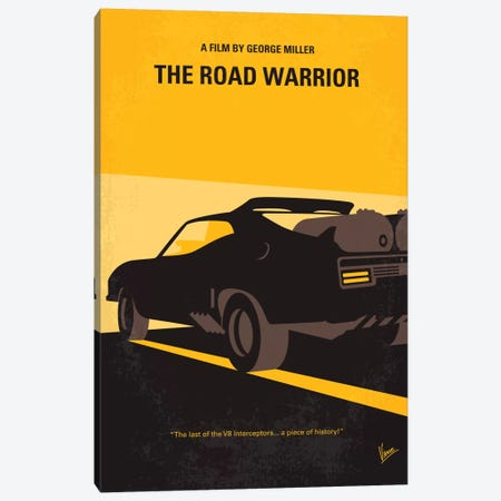 Mad Max 2 (The Road Warrior) Minimal Movie Poster Canvas Print #CKG66} by Chungkong Canvas Artwork