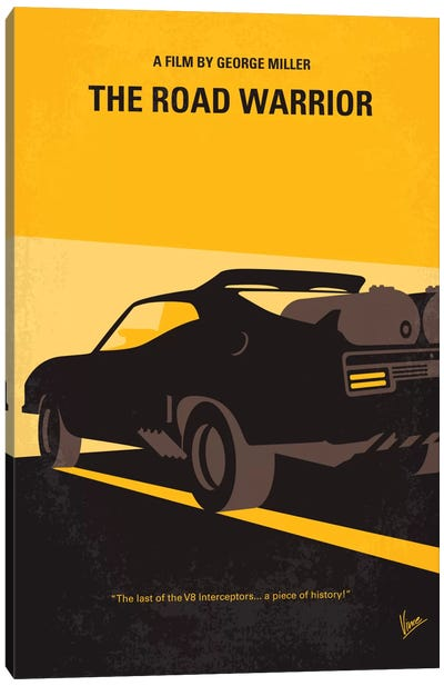 Mad Max 2 (The Road Warrior) Minimal Movie Poster Canvas Art Print