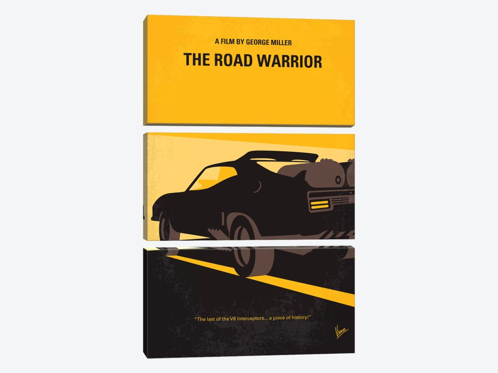 Mad Max 2 (The Road Warrior) Minimal Movie Poster by Chungkong 3-piece Art Print