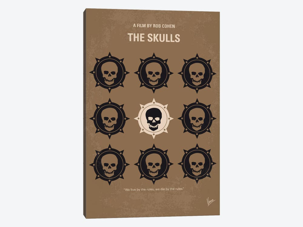 The Skulls Minimal Movie Poster 1-piece Canvas Artwork
