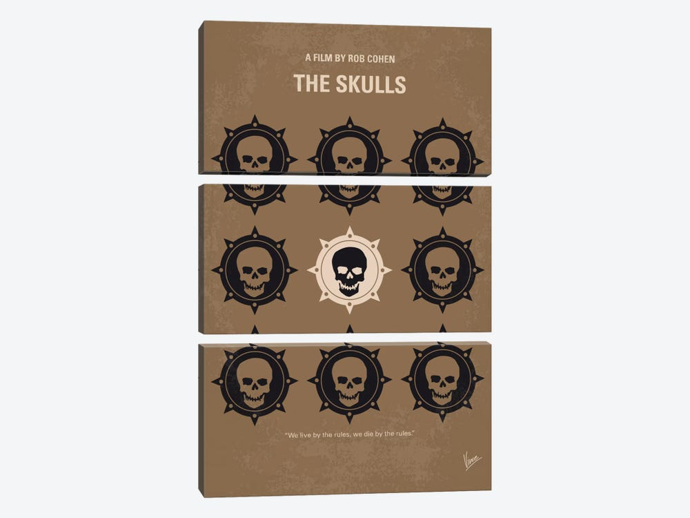 The Skulls Minimal Movie Poster by Chungkong 3-piece Canvas Art
