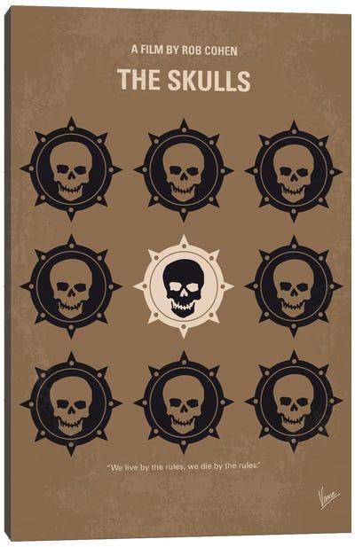 The Skulls Minimal Movie Poster Canvas Art Print