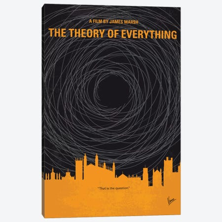 The Theory Of Everything Minimal Movie Poster Canvas Print #CKG671} by Chungkong Canvas Art