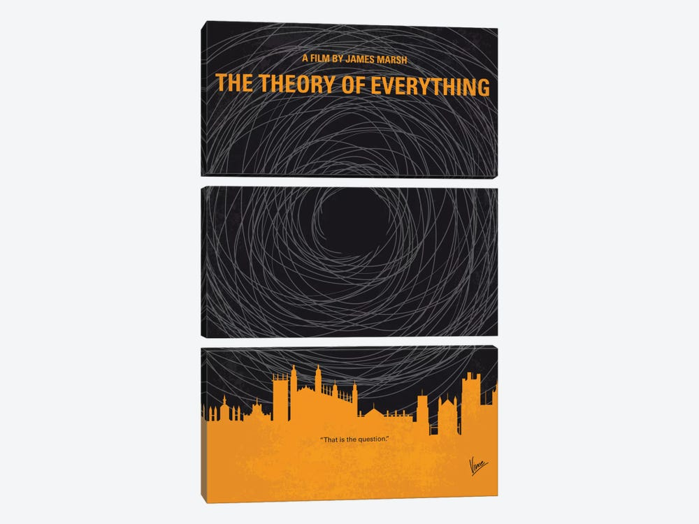The Theory Of Everything Minimal Movie Poster by Chungkong 3-piece Art Print
