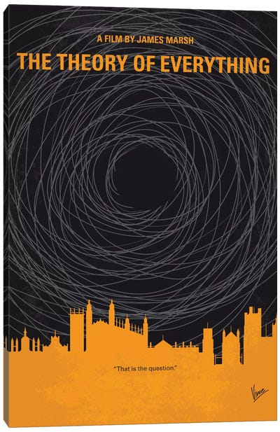 The Theory Of Everything Minimal Movie Poster Canvas Art Print
