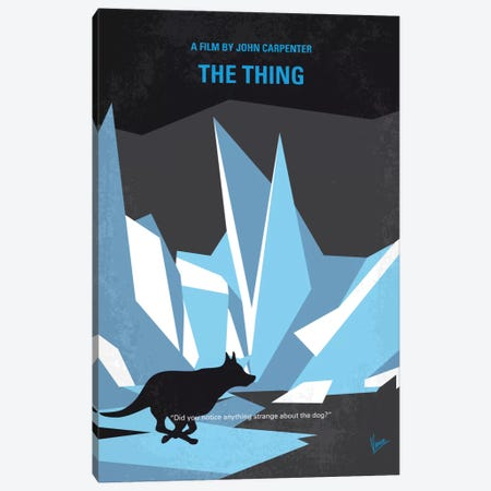 The Thing Minimal Movie Poster Canvas Print #CKG672} by Chungkong Canvas Art