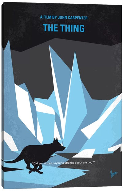 The Thing Minimal Movie Poster Canvas Print #CKG672