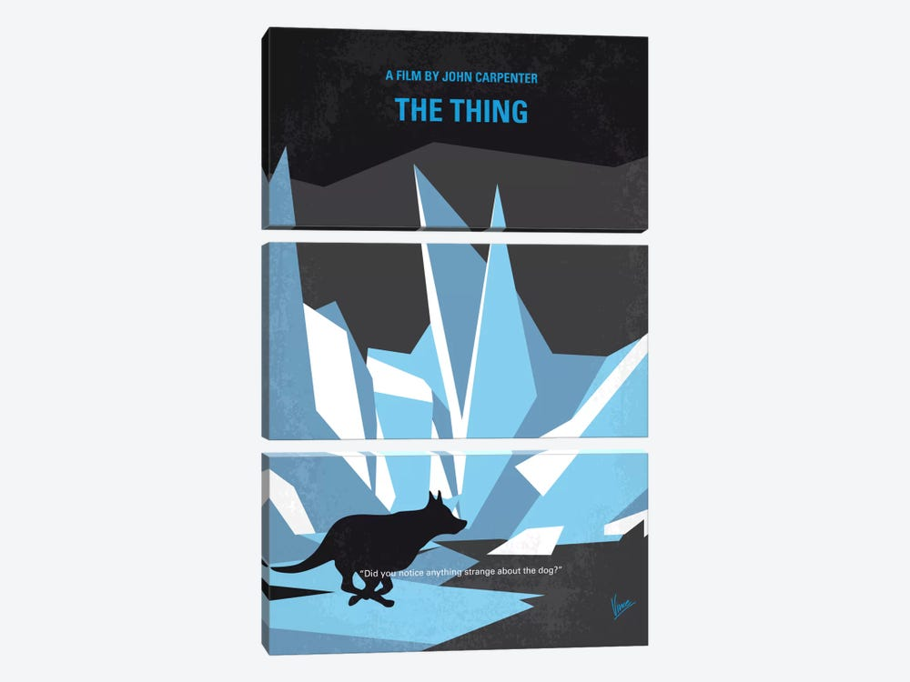 The Thing Minimal Movie Poster by Chungkong 3-piece Canvas Wall Art