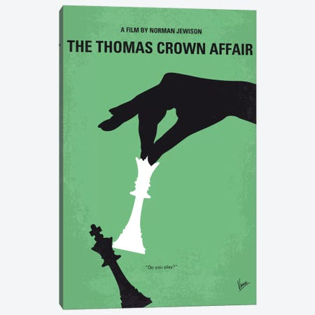The Thomas Crown Affair Minimal Movie Poster Canvas Print #CKG673} by Chungkong Canvas Art