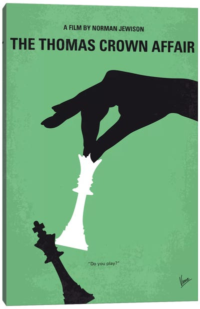 The Thomas Crown Affair Minimal Movie Poster Canvas Art Print
