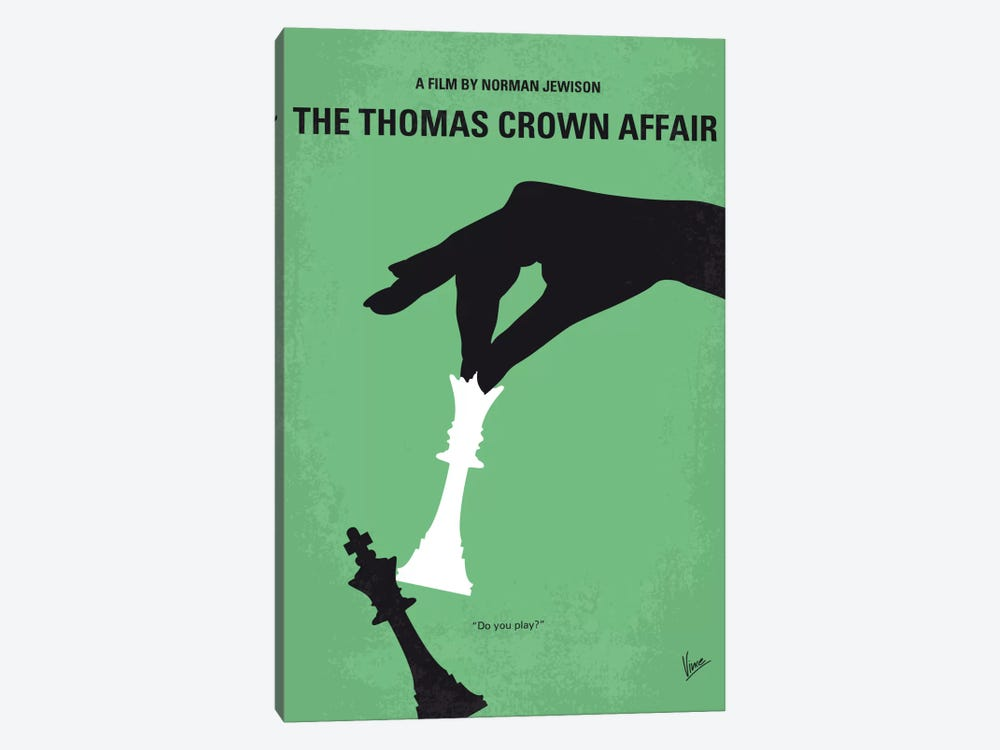 The Thomas Crown Affair Minimal Movie Poster by Chungkong 1-piece Canvas Art Print
