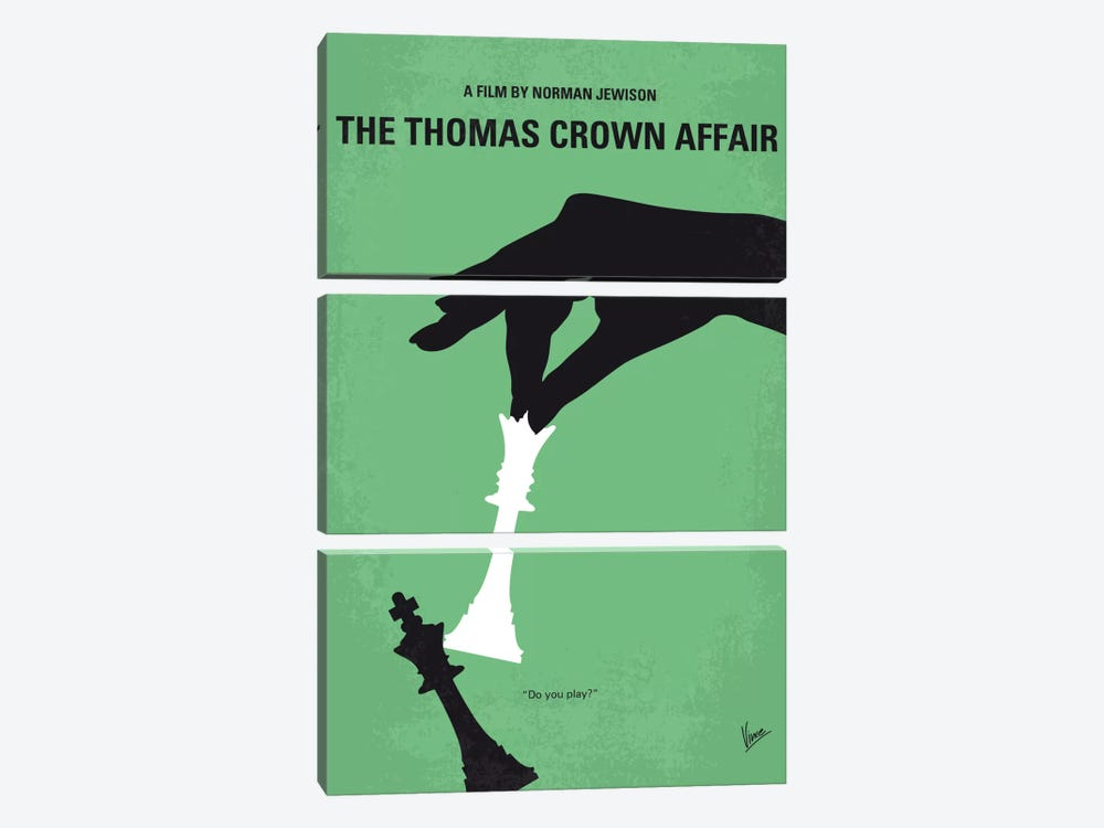 The Thomas Crown Affair Minimal Movie Poster by Chungkong 3-piece Art Print