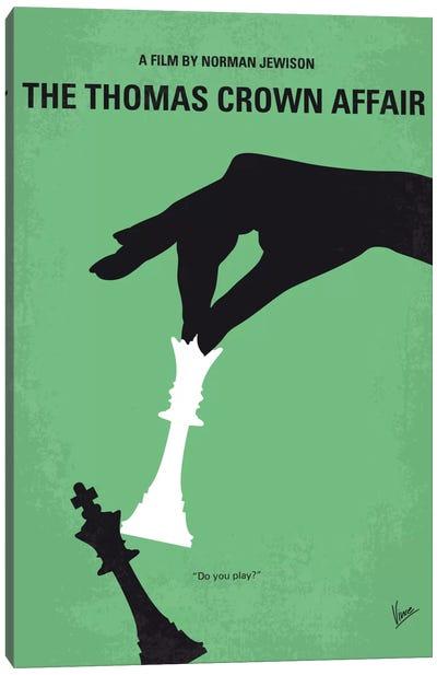 The Thomas Crown Affair Minimal Movie Poster Canvas Art Print