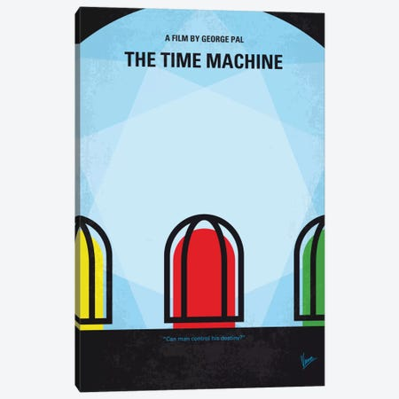 The Time Machine Minimal Movie Poster Canvas Print #CKG674} by Chungkong Canvas Art Print