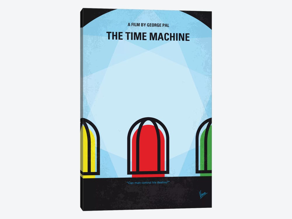 The Time Machine Minimal Movie Poster by Chungkong 1-piece Canvas Wall Art