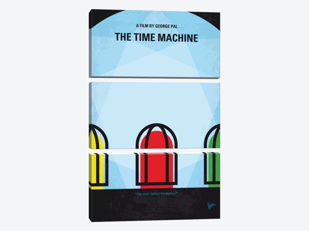 The Time Machine Minimal Movie Poster by Chungkong 3-piece Canvas Artwork