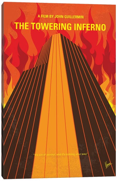 The Towering Inferno Minimal Movie Poster Canvas Art Print