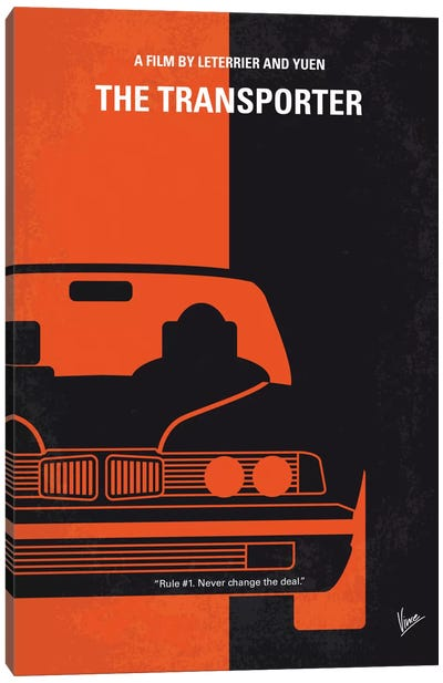 The Transporter Minimal Movie Poster Canvas Art Print