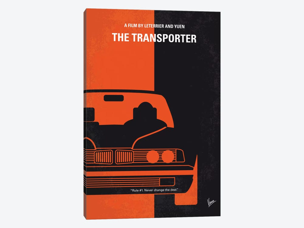 The Transporter Minimal Movie Poster by Chungkong 1-piece Canvas Artwork