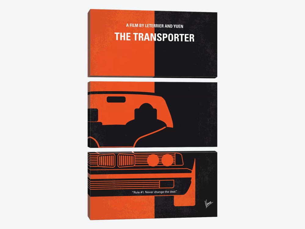 The Transporter Minimal Movie Poster 3-piece Canvas Artwork