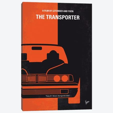 The Transporter Minimal Movie Poster 3-Piece Canvas #CKG676} by Chungkong Canvas Print