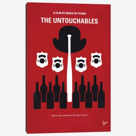 The Untouchables Minimal Movie Poster Canvas Print #CKG677} by Chungkong Canvas Art Print