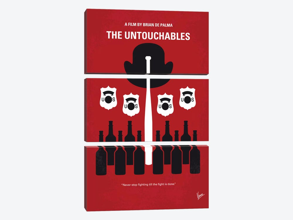 The Untouchables Minimal Movie Poster by Chungkong 3-piece Canvas Print