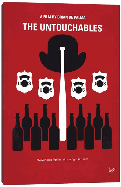 The Untouchables Minimal Movie Poster Canvas Art Print