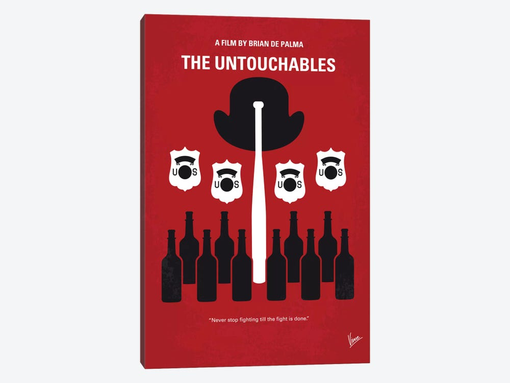 The Untouchables Minimal Movie Poster by Chungkong 1-piece Canvas Print