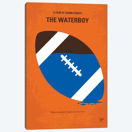 The Waterboy Minimal Movie Poster Canvas Print #CKG678} by Chungkong Canvas Art
