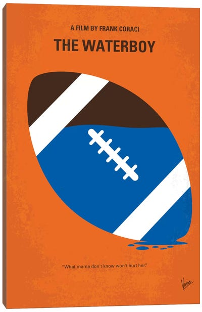 The Waterboy Minimal Movie Poster Canvas Art Print