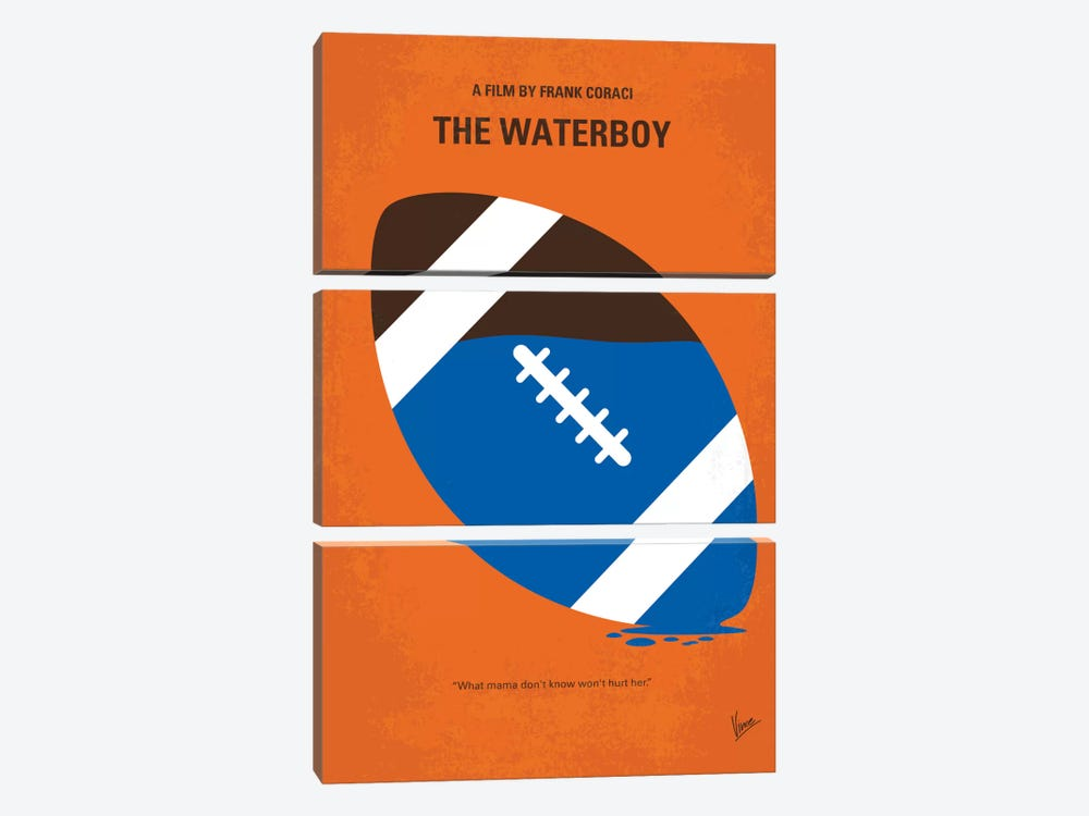 The Waterboy Minimal Movie Poster by Chungkong 3-piece Canvas Artwork