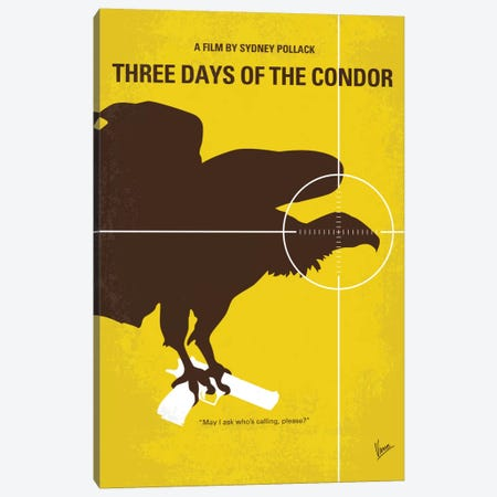 Three Days Of The Condor Minimal Movie Poster Canvas Print #CKG679} by Chungkong Canvas Art