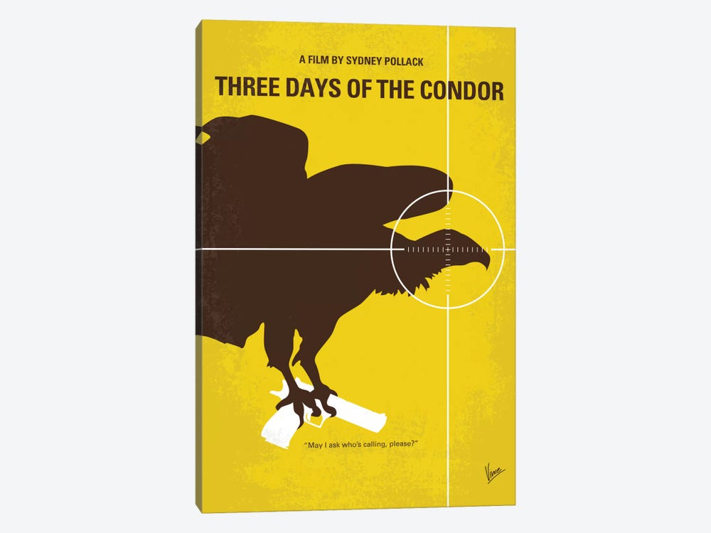 Three Days Of The Condor Minimal Movie Poster by Chungkong 1-piece Canvas Print