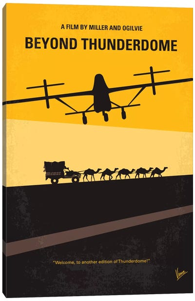 Mad Max Beyond Thunderdome Minimal Movie Poster Canvas Art Print