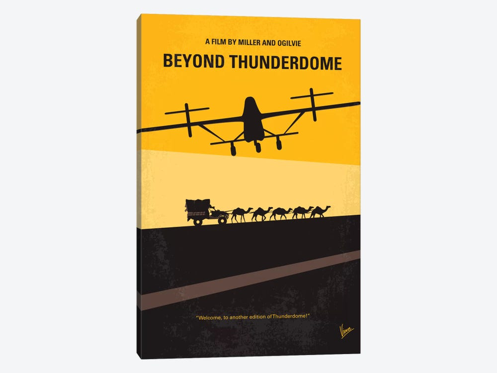 Mad Max Beyond Thunderdome Minimal Movie Poster by Chungkong 1-piece Canvas Art
