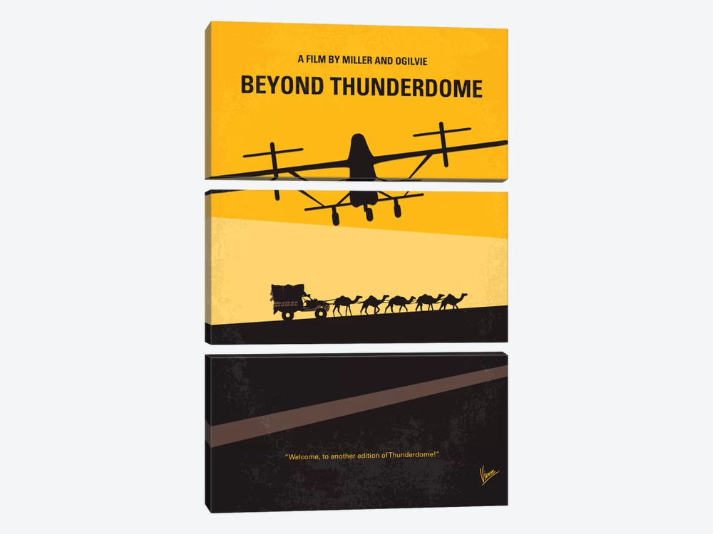 Mad Max Beyond Thunderdome Minimal Movie Poster by Chungkong 3-piece Canvas Art