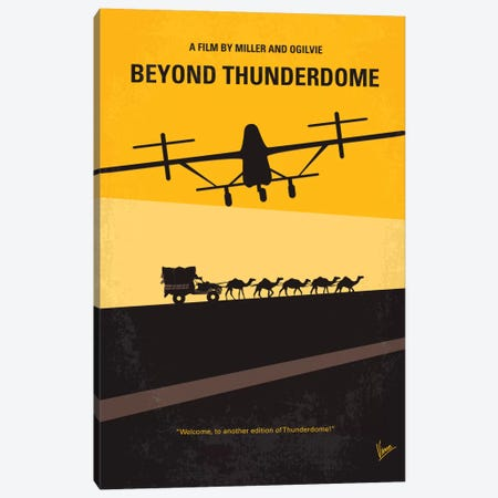 Mad Max Beyond Thunderdome Minimal Movie Poster Canvas Print #CKG67} by Chungkong Canvas Wall Art